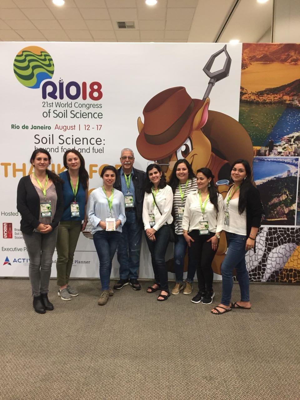 Delegación de Agronomía participó en Congreso Mundial de las Ciencias del Suelo en Brasil