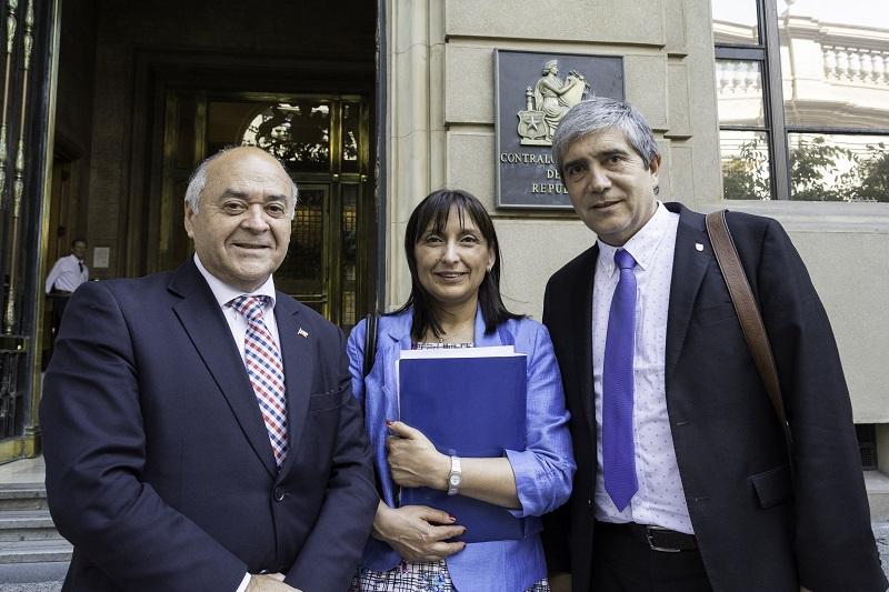 Rector UdeC e Intendente del Biobío se reunieron con Contralor General por proyecto Pacyt