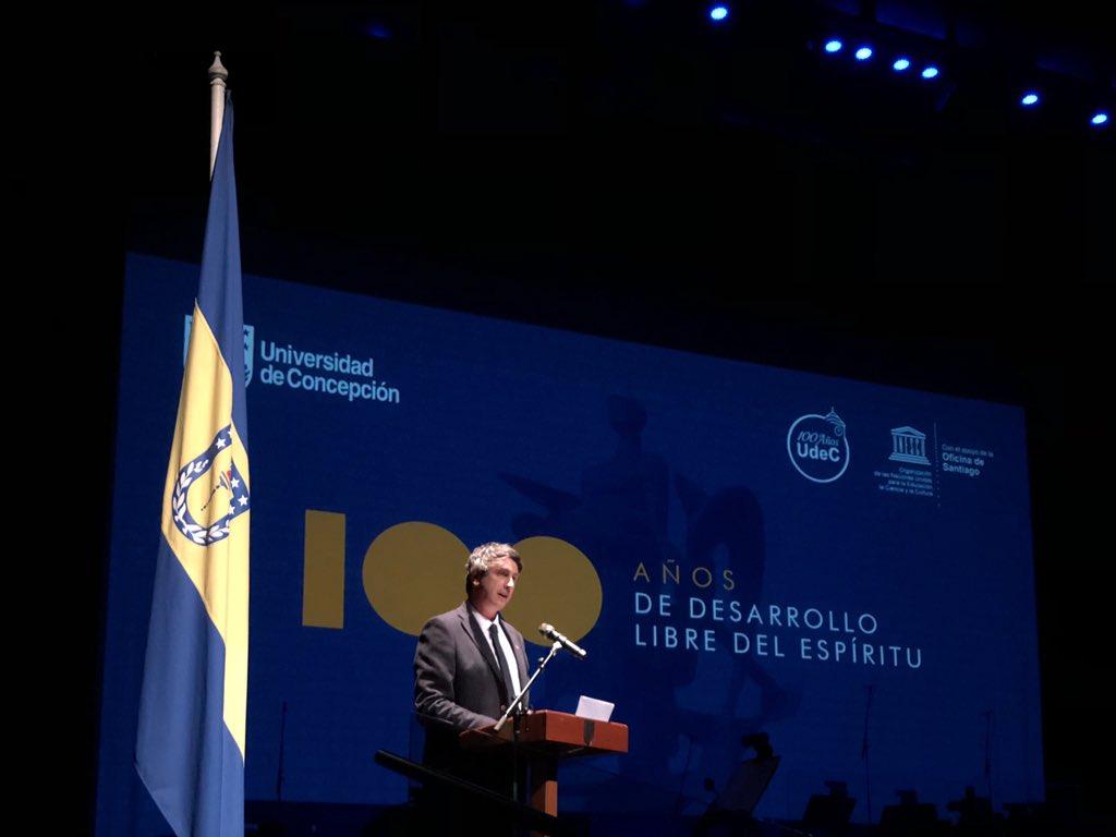 """Ministro Couve: """"La Universidad de Concepción es parte importante del alma de la región"""""""