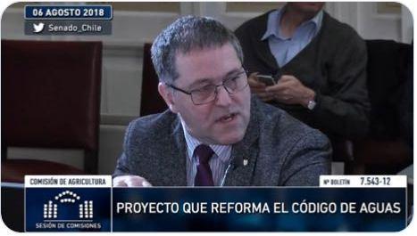 Decano de Ingeniería Agrícola expuso sobre modificación del Código de Aguas en reunión de la Comisión de Agricultura del Senado