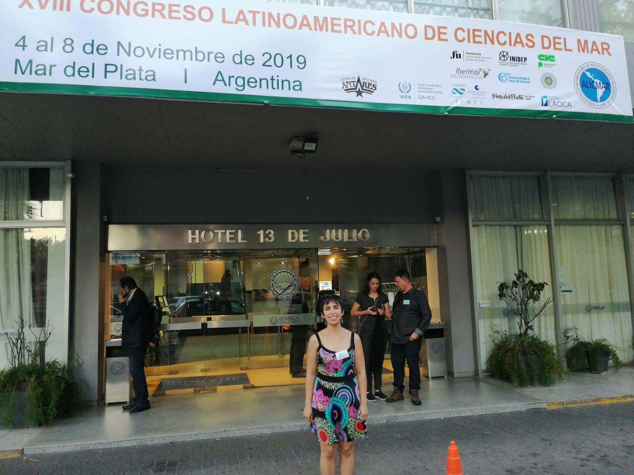 Integrante de la RP4 destacó en Congreso Latinoamericano  de Ciencias del Mar