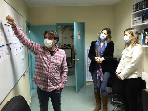 Autoridades de Ciencia visitaron laboratorios UdeC