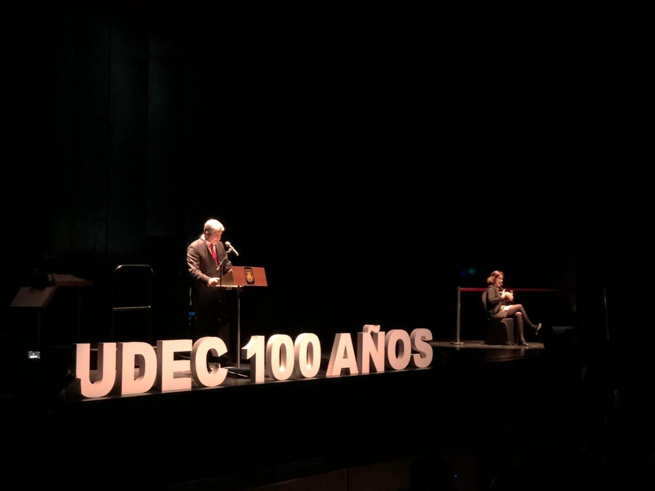 Discurso de Rector Dr. Carlos Saavedra con motivo del Centenario UdeC