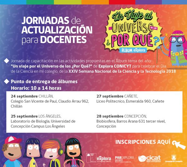 Explora Conicyt Bío Bío invita a sus jornadas de actualización para docentes