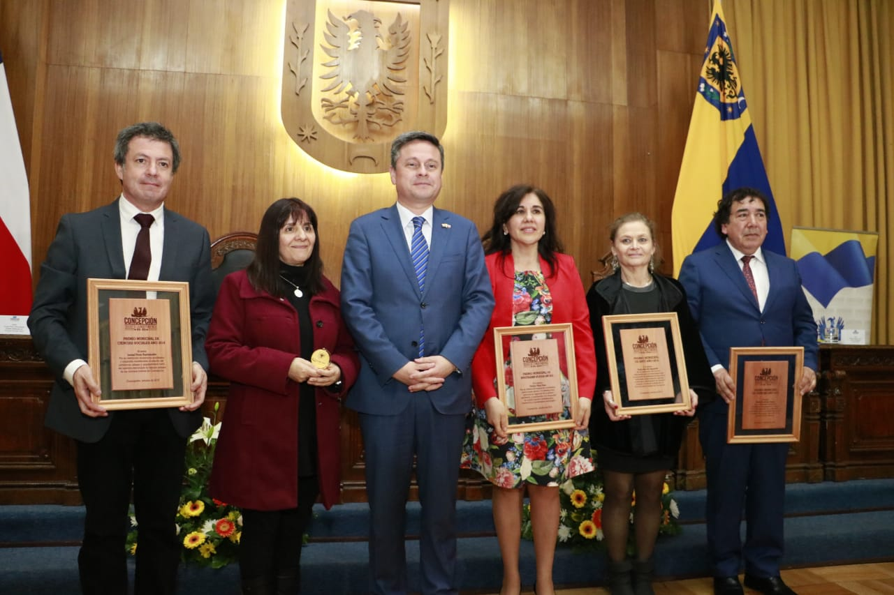 Tres destacados académicos UdeC recibieron Premio Municipal 2018
