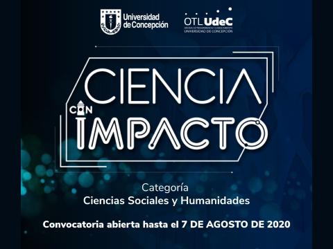 Premios Ciencia Con Impacto 2020: OTL UdeC abre convocatoria para proyectos en Cs. Sociales y Humanidades